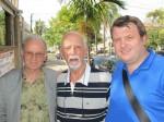 Da sinistra il vicepresidente di Macondo, Gaetano Farinelli, Rubem Alves e il tesoriere Stefano Benacchio nel corso della loro visita al Maestro a Campinas (SP) il 19-08-2011.